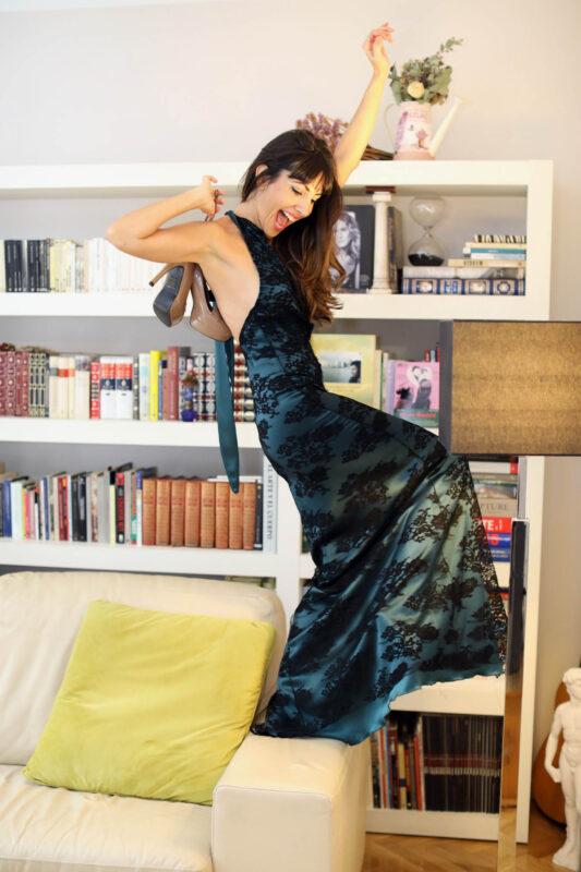 Alicia Fernandez actriz vestido